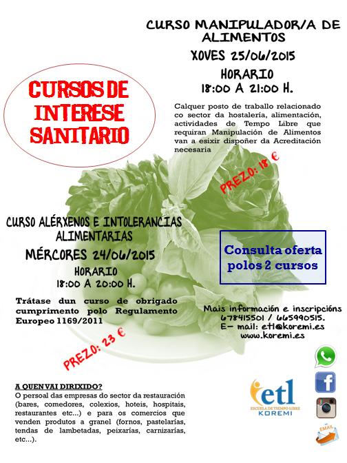 CURSOS MANIPULADOR/A ALIMENTOS Y ALÉRGENOS E INTOLERANCIAS ALIMENTARIAS