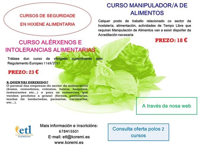 Cursos de Especialización en Seguridad e Higiene Alimentaria