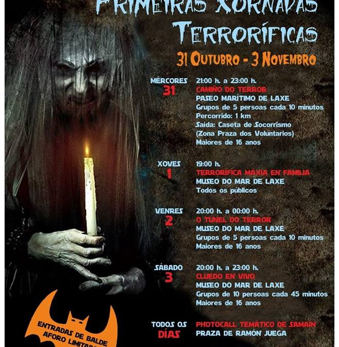 """PRIMEIRAS """"XORNADAS TERRORÍFICAS"""" NO CONCELLO DE LAXE"""